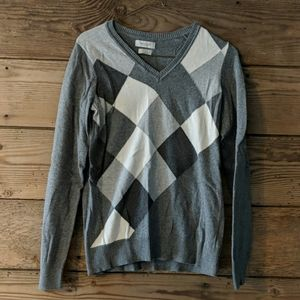 Gray and Off White Van Heusen Sweater